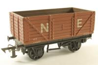 7 Plank Wagon in NE Brown - Pre-owned - Repainted - One biffer missing - Replacement Box