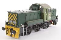 "Class 14 ""Teddy Bear"" D9500 BR Green as preserved. - Pre-owned - handrail from one end loose in box, buffers missing from one end, head panel damaged"
