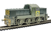 "Class 14 ""Teddy Bear"" (ex British Rail Green) Blue Circle Cement (ex D9526) (Weathered)."