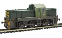 "Class 14 ""Teddy Bear"" British Steel '45' (Ex British Rail) Green (Weathered) with wasp ends."