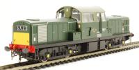 Class 17 diesel D8511 in green with small yellow panels