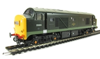 Class 23 Baby Deltic diesel D5904 in BR Green with full yellow ends.