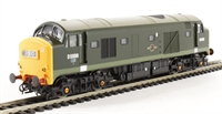 Class 23 Baby Deltic diesel D5900 in BR Green with large yellow ends.