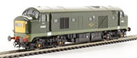 Class 23 Baby Deltic D5907 in BR Green with small yellow ends - gloss finish.