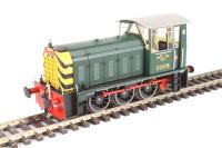 Class 05 Hunslet shunter D2578 in BR green with wasp stripes (preserved)