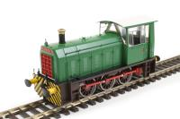 "Class 05 Hunslet shunter ""Cider Queen"" in green with wasp stripes (industrial)"