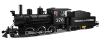 2-6-0 mogul steam loco 376 in Durango & Silverton black