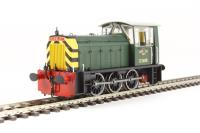 Class 05 Hunslet shunter D2600 BR green with wasp stripes