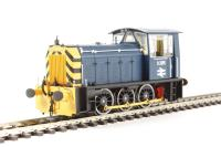 Class 05 Hunslet shunter D2595 in BR blue with wasp stripes (preserved)
