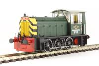 "Class 05 Hunslet shunter ""Departmental 88"" in BR green with wasp stripes"