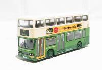 "Leyland Titan with ""Metro Network"" advertisement and dual doors ""Blackburn Transport"""