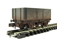 "7 plank wagon ""LMS"" - weathered."