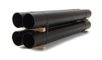 4 Steel Pipes Stacked 138mm Black