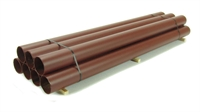 7 Steel Pipes Bundled 230mm Red Anti-Rust
