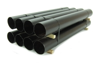 8 Steel Pipes Stacked 138mm Brown