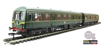 "Class 105 2 Car Cravens DMU in BR green with speed whiskers ""Cambridge/Harwich"""