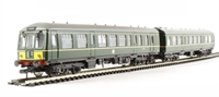 Class 108 2 Car DMU in BR green with half yellow ends