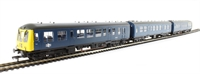Class 108 3 Car DMU in BR blue with full yellow ends