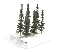"5"" - 6"" Conifer Trees - Pack Of 6"