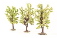 """2.5"""" - 3.5"""" Deciduous Trees - Pack Of 3 - Pre-owned - One Tree Slightly Damaged"""
