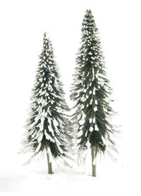 "4"" - 6"" Pine Trees With Snow - Pack Of 24"