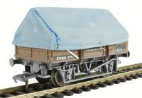 5 plank china clay wagon with hood in BR bauxite - weathered