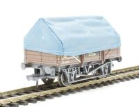 5 plank china clay wagon with hood in BR bauxite with TOPS panel - weathered