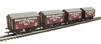 Pack of 4 10 ton salt wagon in ICI/Fleetwood Salt livery