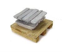 10 Metal Ingots On Pallet