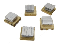 5 Piece Set of 10 Metal Ingots