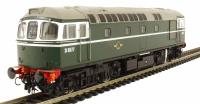 Class 33/0 diesel D6577 in early BR green