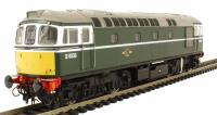 Class 33/0 diesel D6530 in BR green with experimental yellow panels with rounded top corners
