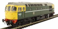 Class 33/0 diesel D6570 in BR green with full yellow ends and BR coach roundels