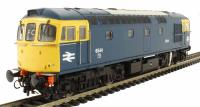 Class 33/0 diesel 6544 in BR blue with full yellow ends