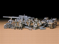 88mm Gun Flak 36/37 with limbers, BMW R75 motorbike and 9 figures.