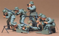 German machine gun troops with 7 figures & equipment