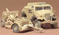 British 25 pounder & C8 Quad Gun Tractor with figure