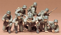 German Panzer Grenadiers - 8 figures