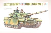 British Cheiftain Mk5 tank with 2 figures - Pre-owned - imperfect box