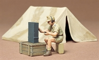 Tent set with 2 tents, figure and radio