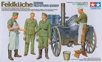 German Field Kitchen (Feldkuche) with wheeled oven, 2 chefs & 2 troops