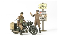 British BSA M20 Motorcycle with Military Police
