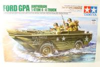 Ford GPA Amphibious Jeep with 3 US infantry figures - Pre-owned - Like new