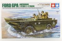 Ford GPA Amphibious Jeep with 3 US infantry figures