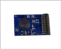 21-pin 3-function 2-sided 1A decoder with back EMF for slow running
