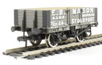 5 plank wagon with steel floor in E. B. Mason livery