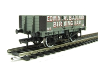 5 plank wagon with wooden floor in Edwin W. Badland livery
