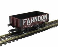 5 plank wagon with wooden floor in Farndon livery