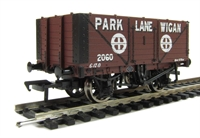 7 plank end door wagon in Park Lane Wigan livery
