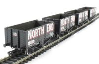 Pack of 4 7 plank end door wagon in North End livery